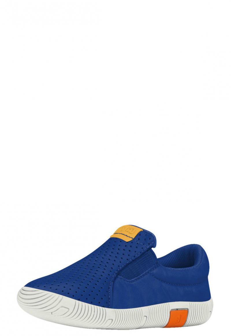 Zapatilla Cuero Azul Puntos