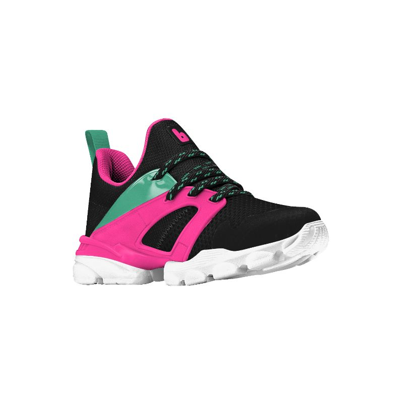 Zapatilla Drop New Negro y Rosa