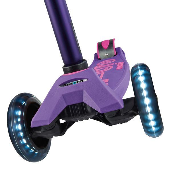 Micro Scooter Maxi Deluxe LED Morado