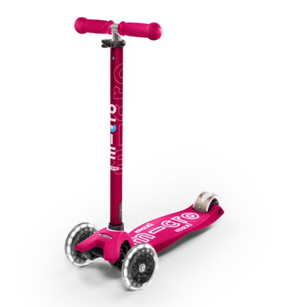 Micro Scooter Maxi Deluxe LED Rosado