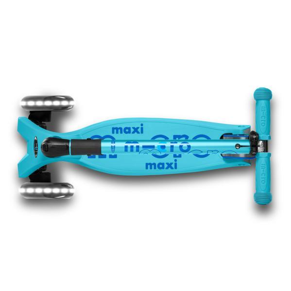 Micro Scooter Maxi Deluxe PLEGABLE LED Aqua