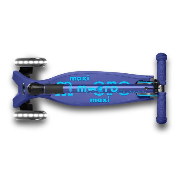 Micro Scooter Maxi Deluxe PLEGABLE LED Azul Marino