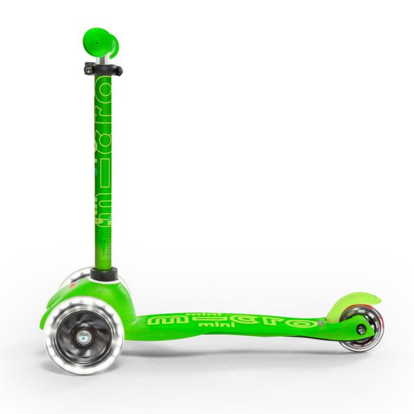 Micro Scooter Mini Deluxe LED Verde