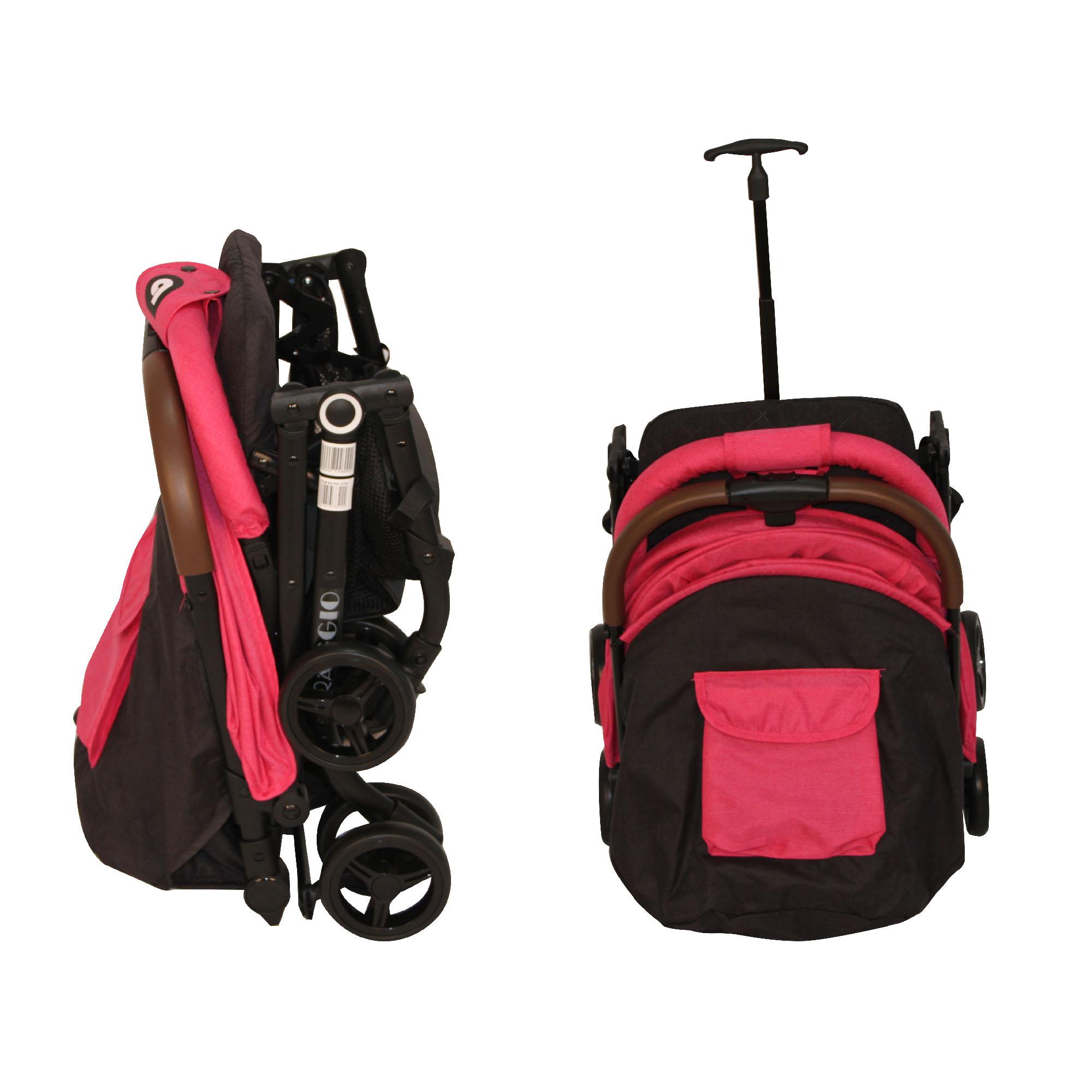 Coche Travel System Compacto Raggio Fucsia Bebeglo RS-13785-2