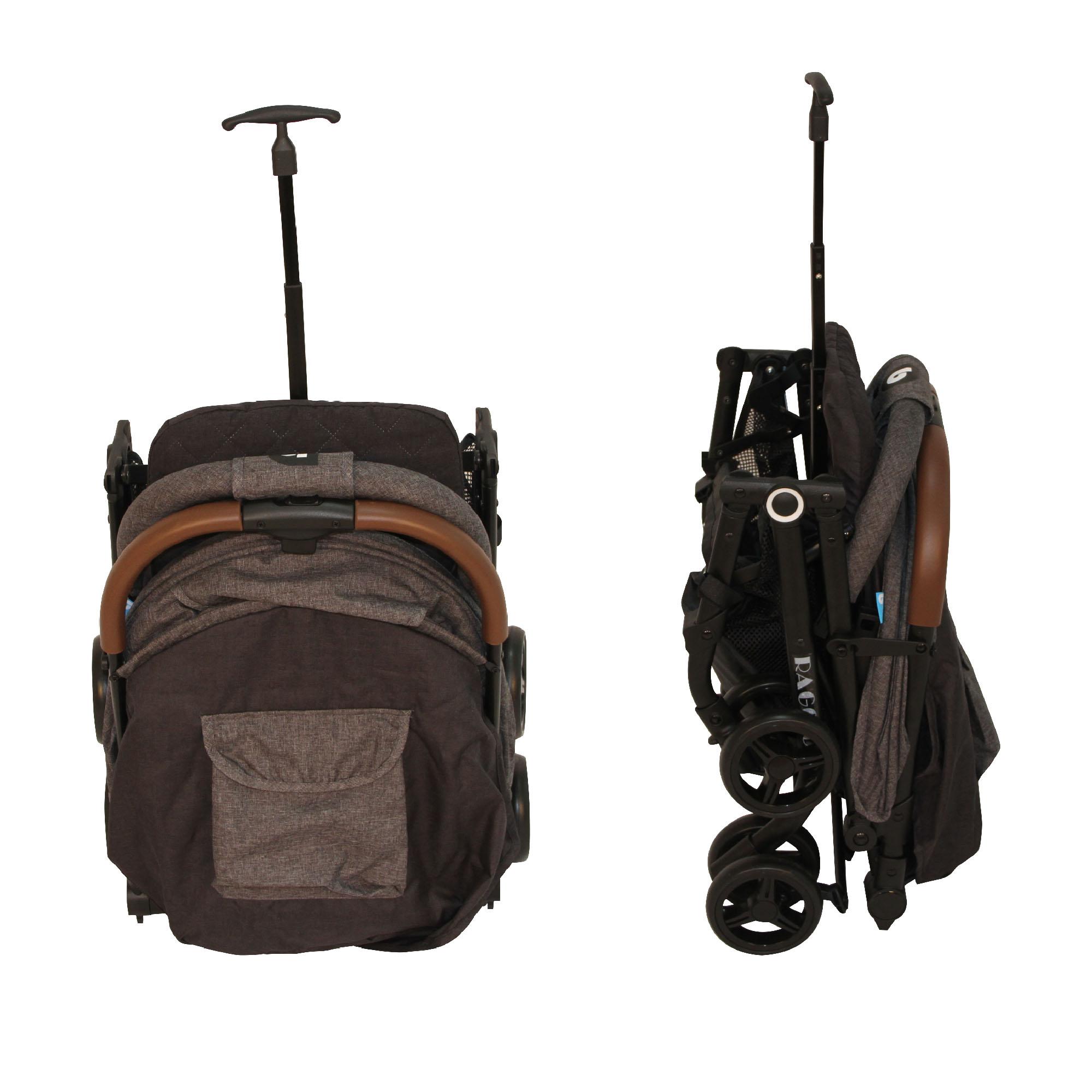 Coche Travel System Compacto Raggio Gris Bebeglo RS-13785-3