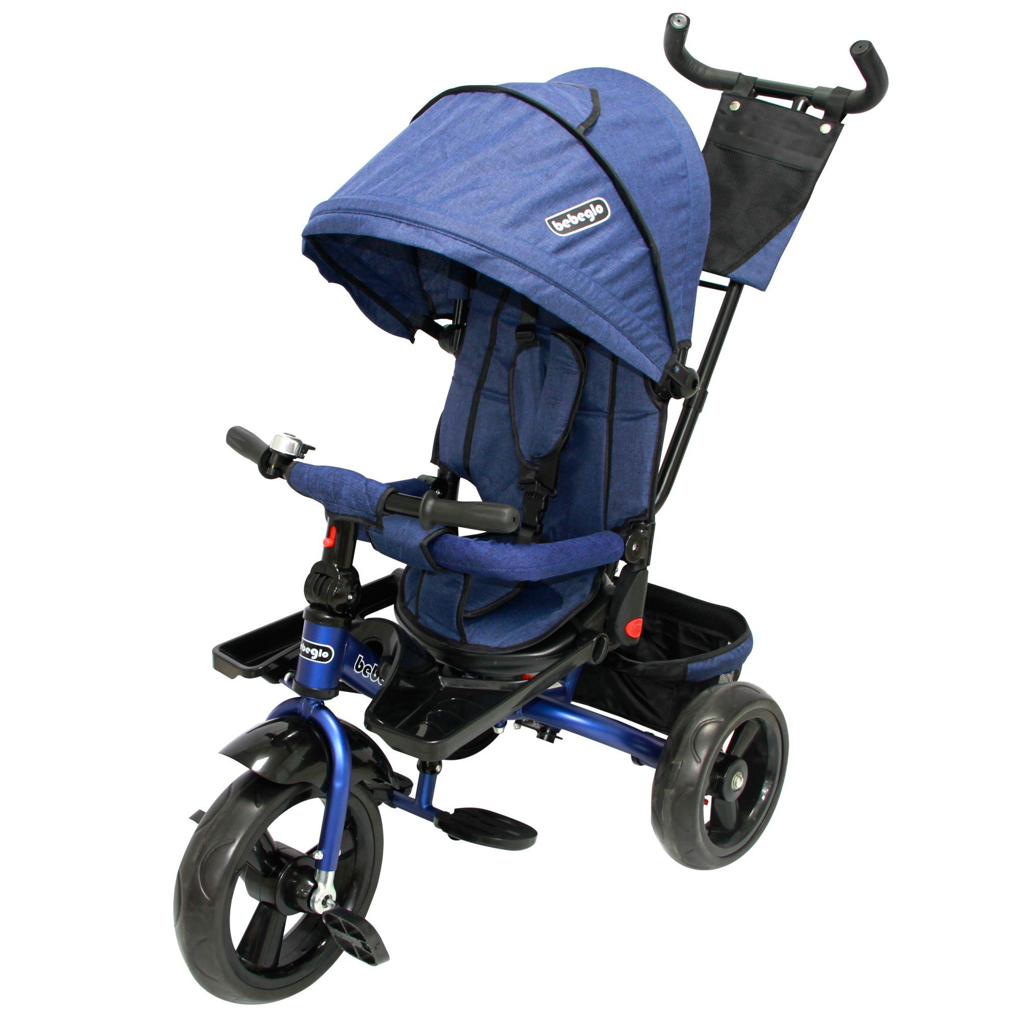 Triciclo Bebeglo Reversible One Click - Azul