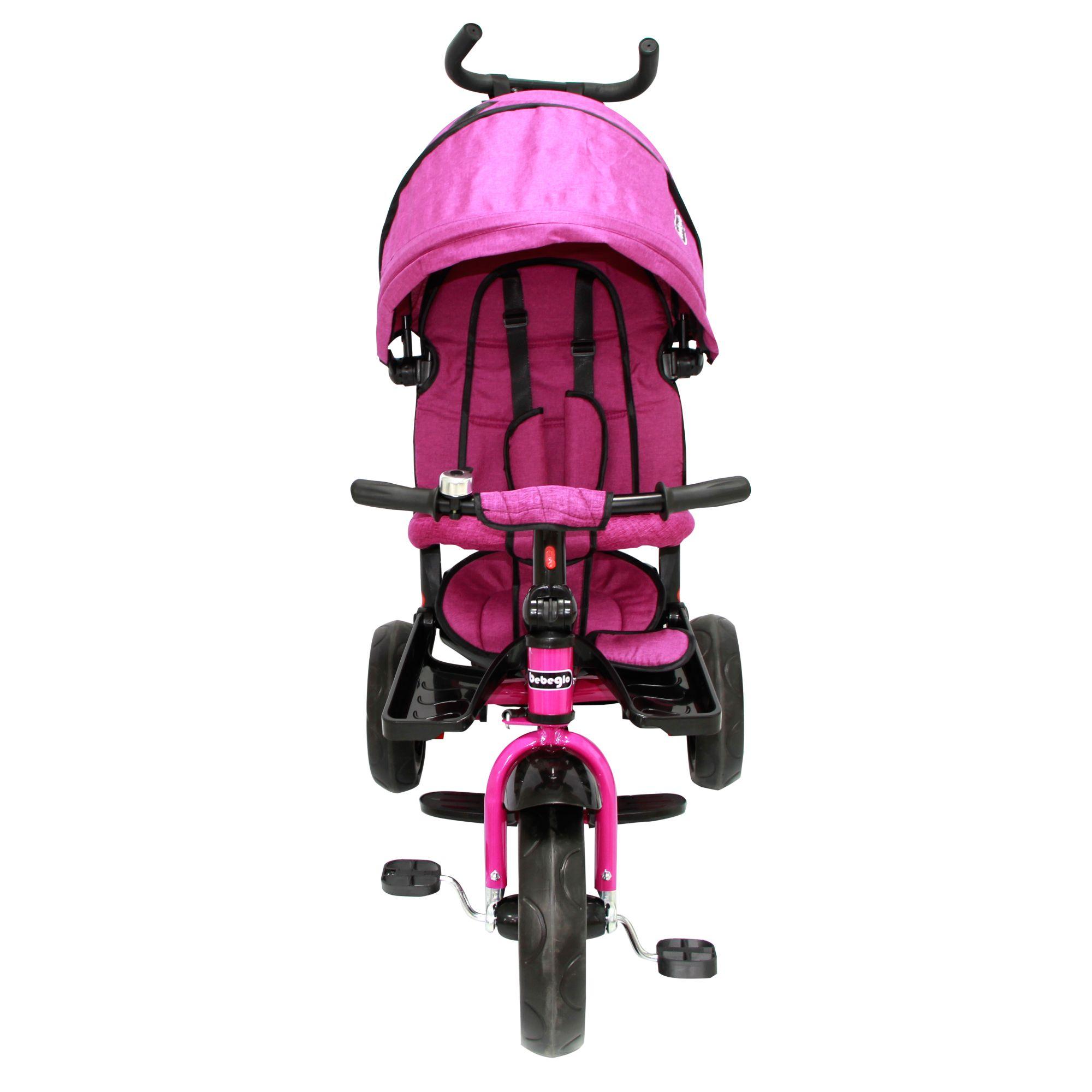 Triciclo Bebeglo Reversible One Click - Fucsia