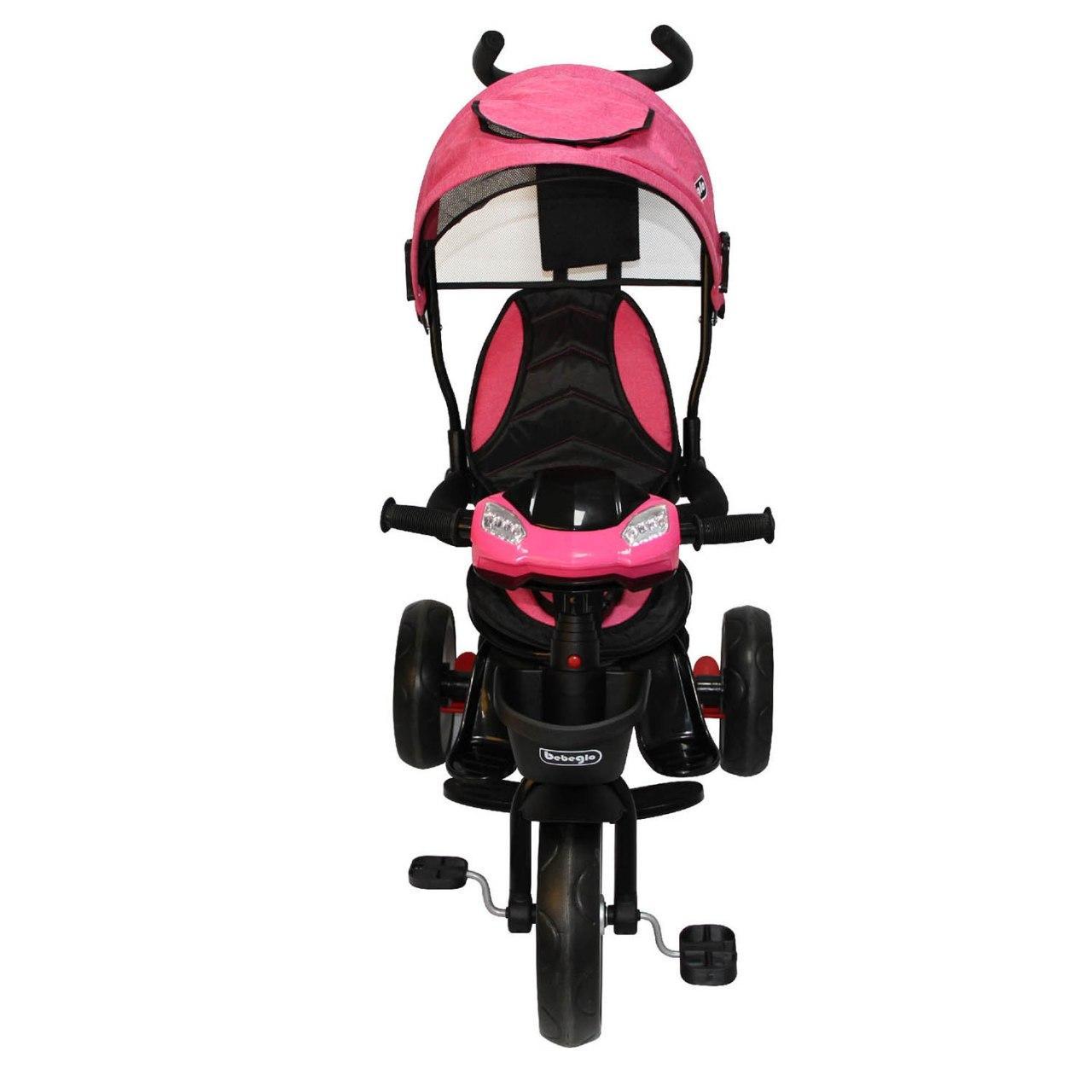 Triciclo Bebeglo Bluetooth One Click - Fucsia