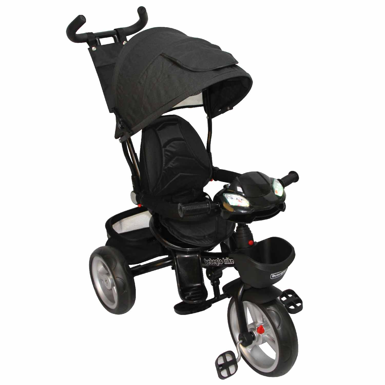Triciclo Bebeglo Bluetooth One Click - Negro