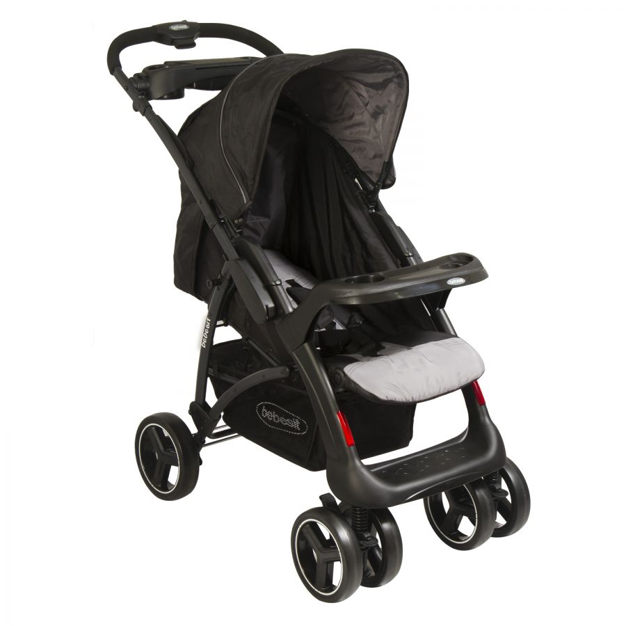 Coche Travel System Torino - Negro y Gris