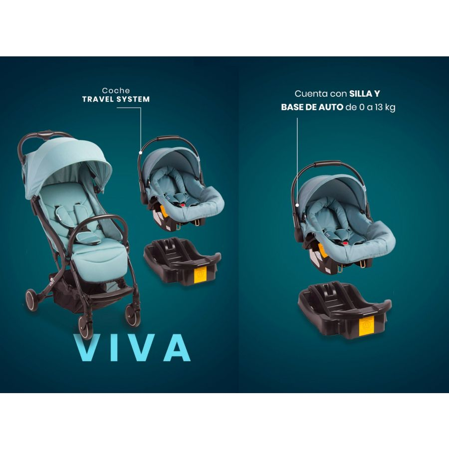 Coche Travel System VIVA - Sky Blue
