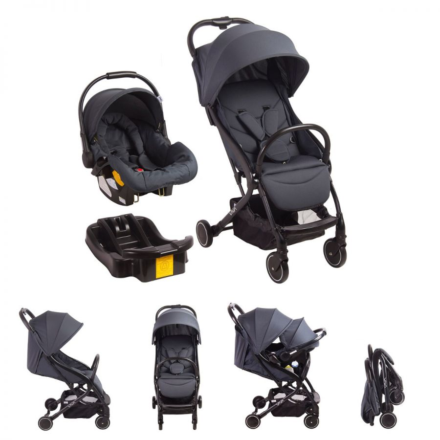 Coche Travel System VIVA - Gris Obscuro