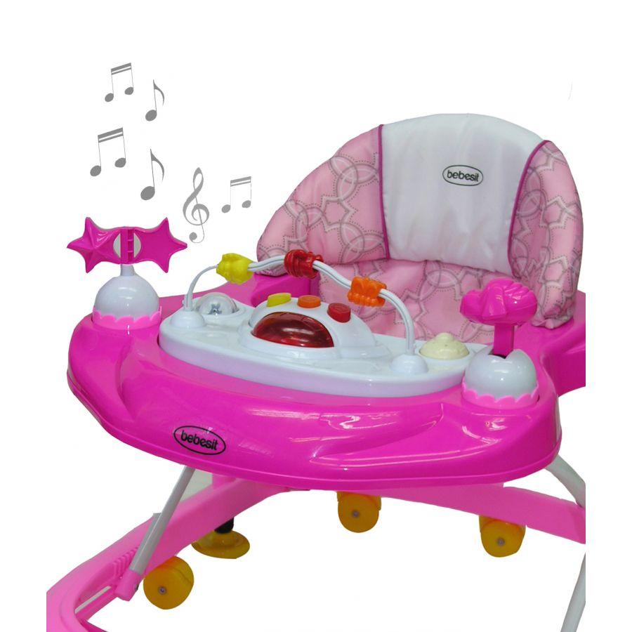 Andador Musical Airbus - Rosa
