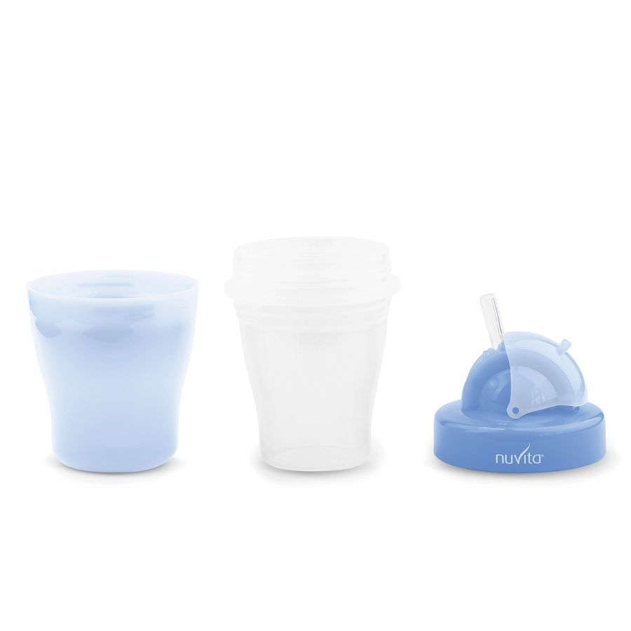 Vaso Con Tapa 200Ml - Azul