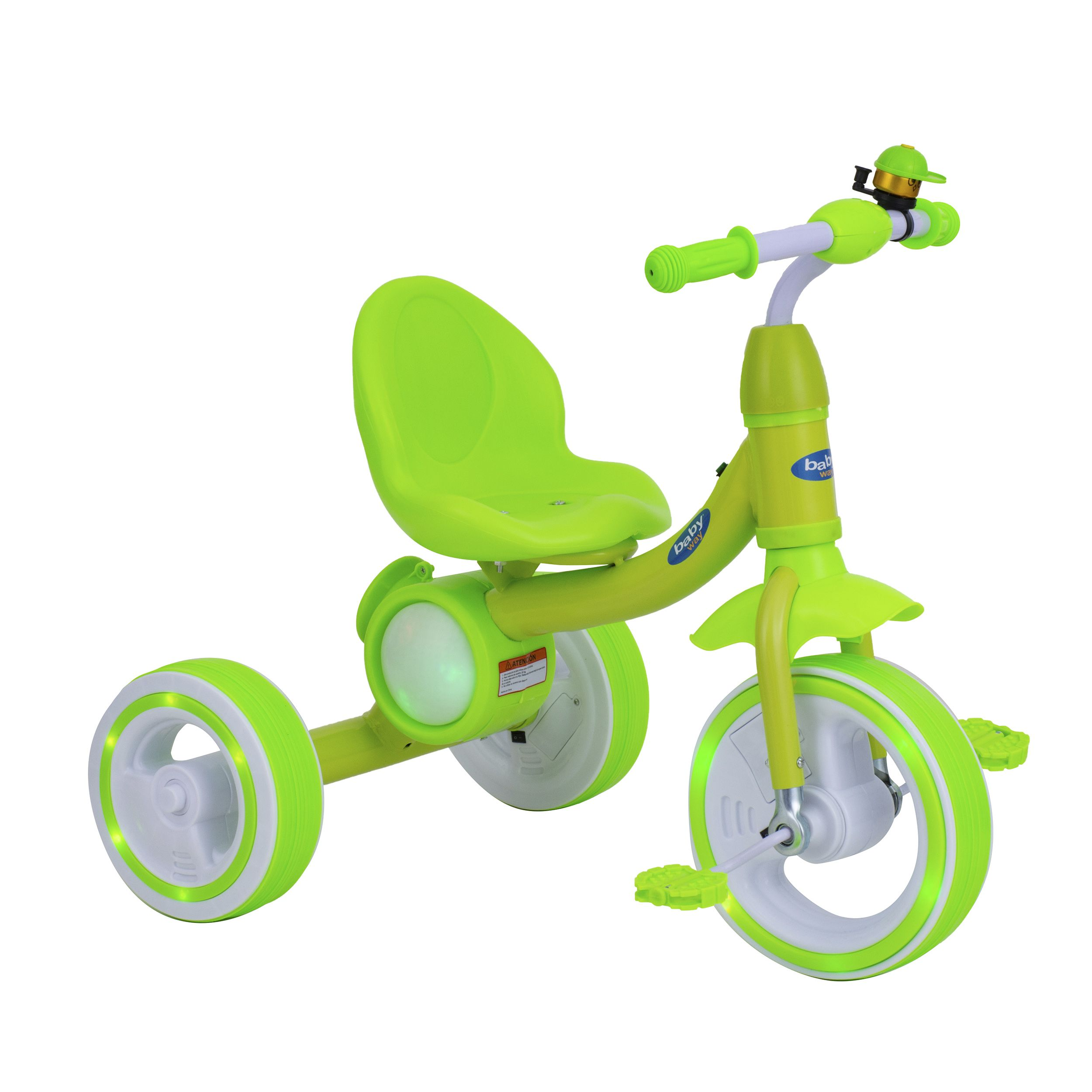 Triciclo Musica Y Luces Baby Way Verde
