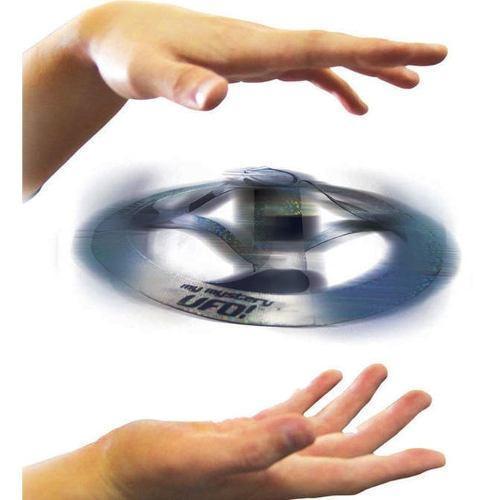 Juguete Ufo Mágico Platillo Volador Plateado Acción