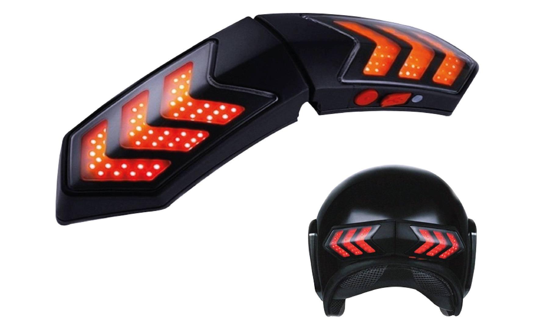 Luz Bicicleta Usb Señalizadora Inteligente Casco Moto