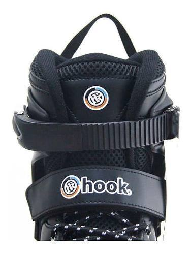 Patin Roller Inline Fitness Adulto Negro Talla M Hook