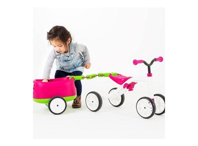 Bicicleta De Aprendizaje Chillafish Con Carro Rosado