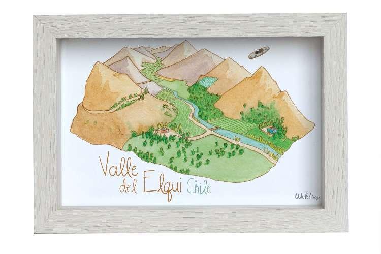 Cuadro 10 x 15 Valle del Elqui