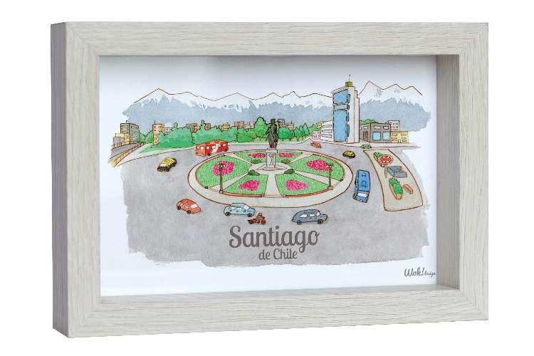 Cuadro 10 x 15 Santiago