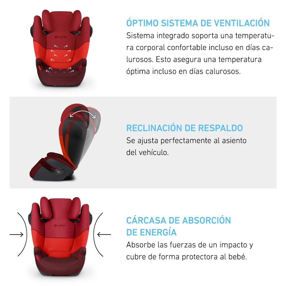Silla de Auto Butaca Solution M-Fix SL Negro