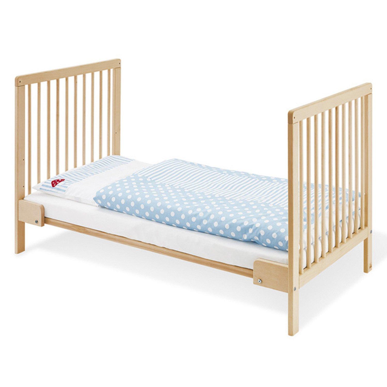 Cuna de madera - cama de transición Hanna 140x70 (inc. colchón) Beige