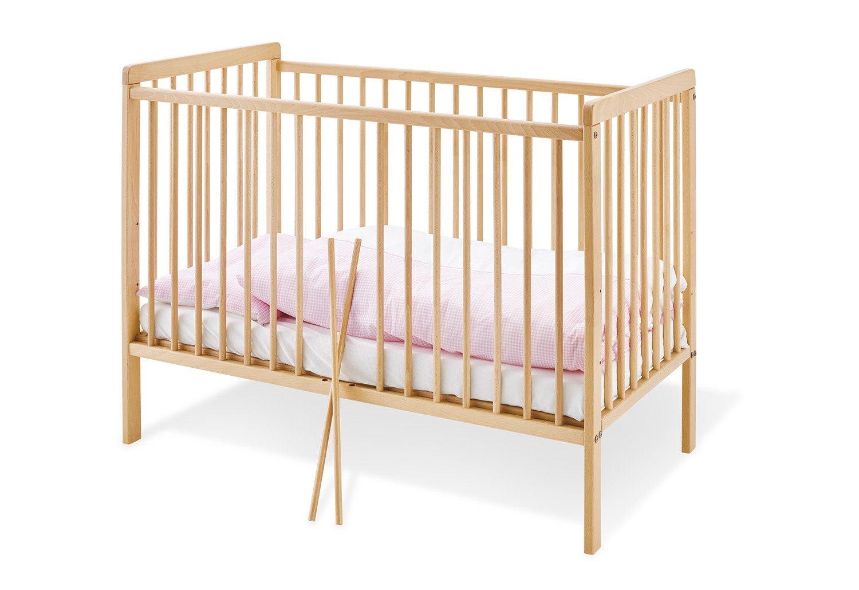 Cuna de madera Hanna 120x60 (inc. colchón) Pinolino Beige