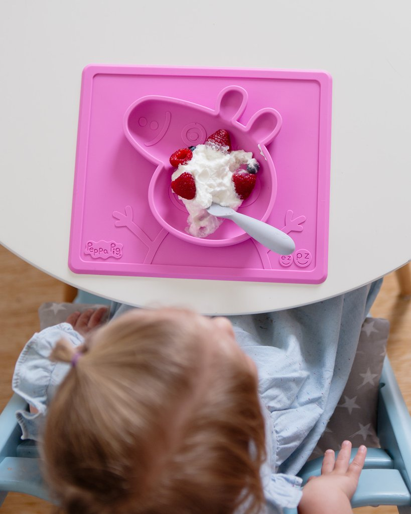 El individual + plato Mini Bowl Pink