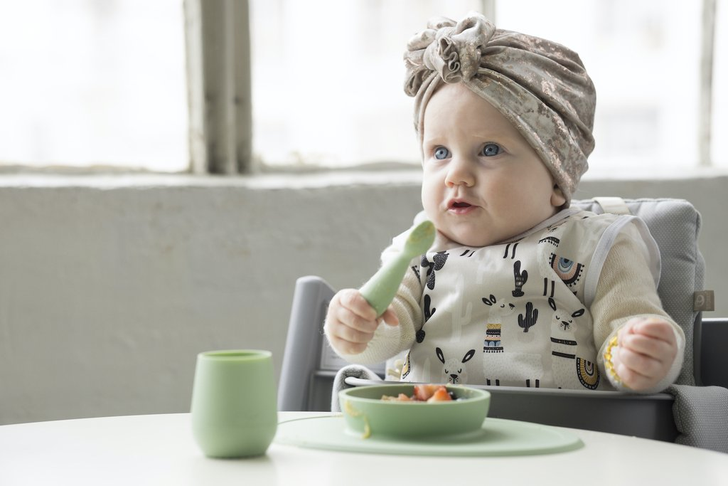 Vajilla First Foods Set Sage
