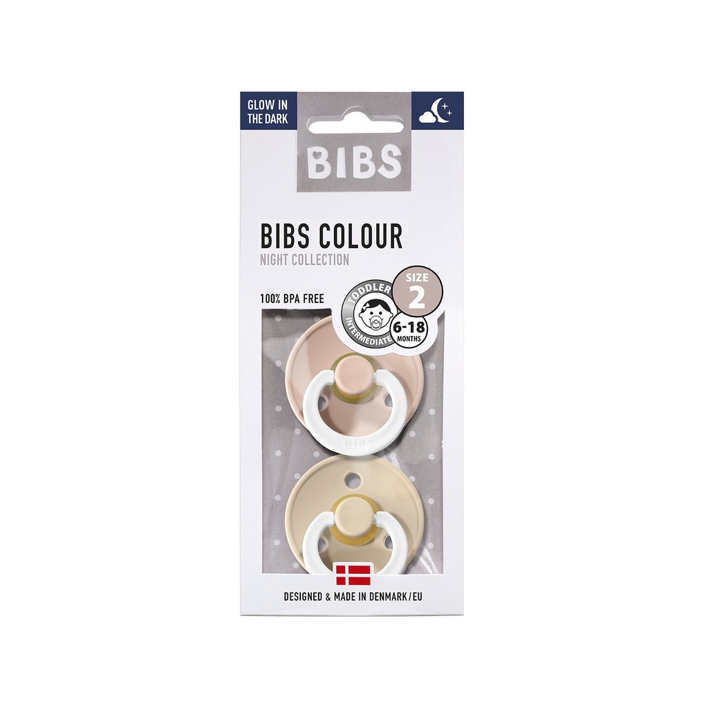 Chupete Bibs Colour X2 Talla 2 Blush Night/Vanilla Night