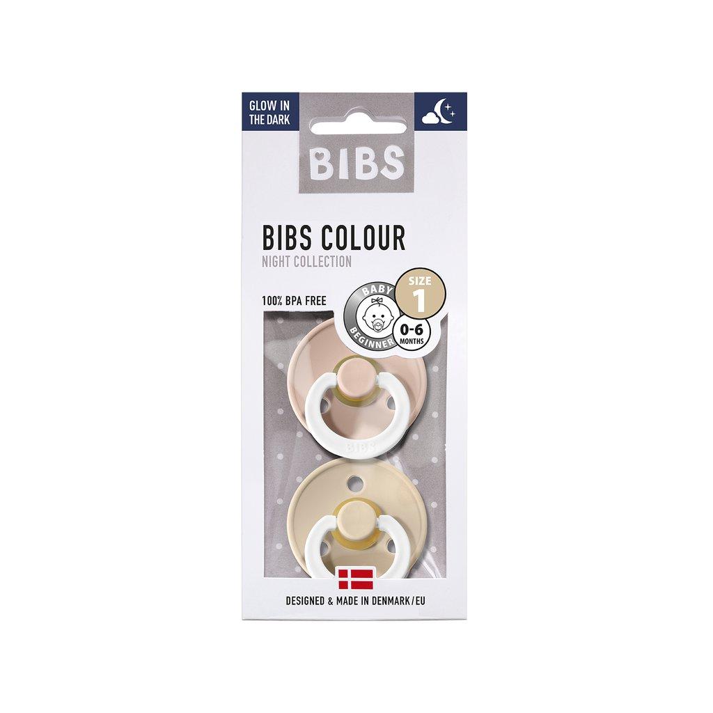 Chupete Bibs Colour X2 Talla 1 Blush Night/Vanilla Night