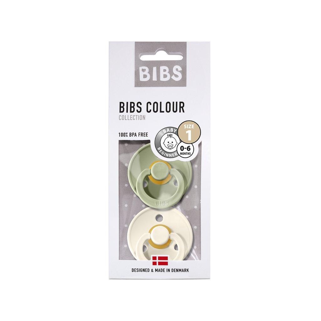 Chupete Bibs Colour X2 Talla 1 Sage/Ivory