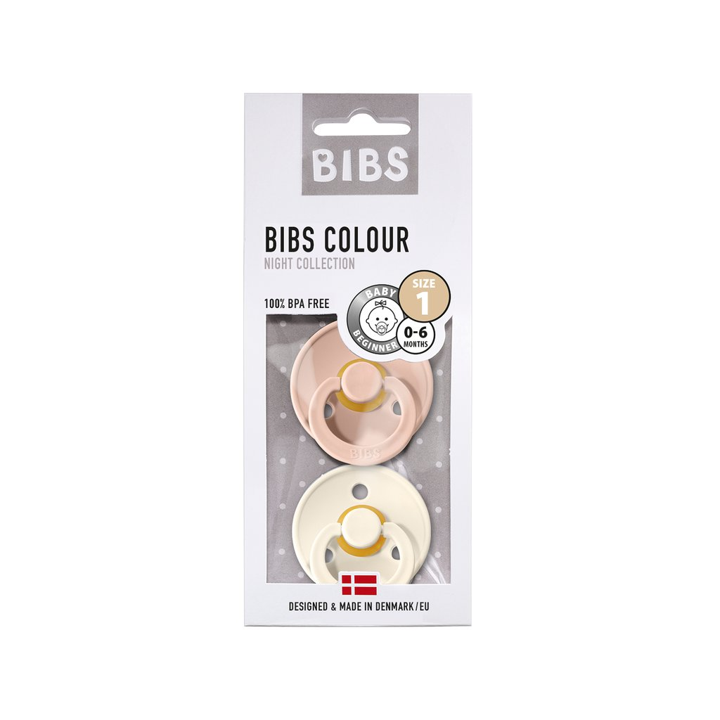 Chupete Bibs Colour X2 Talla 1 Blush/Ivory