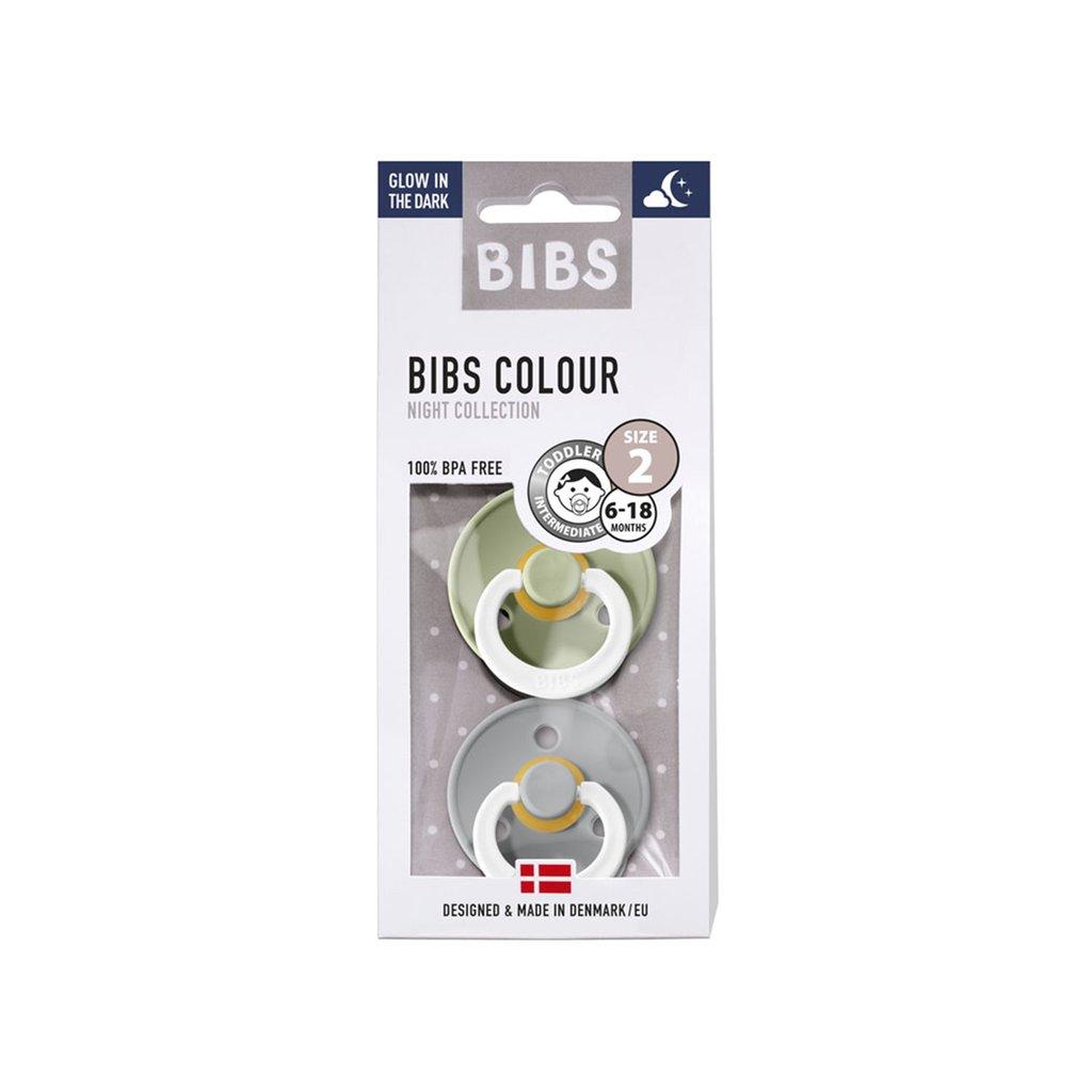 Chupete Bibs Colour X2 Talla 2 Sage Night/Cloud Night