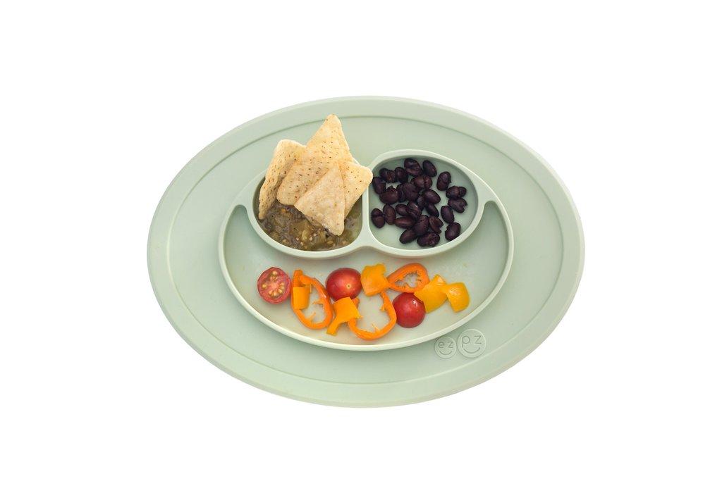 El individual + plato Mini Mat Sage