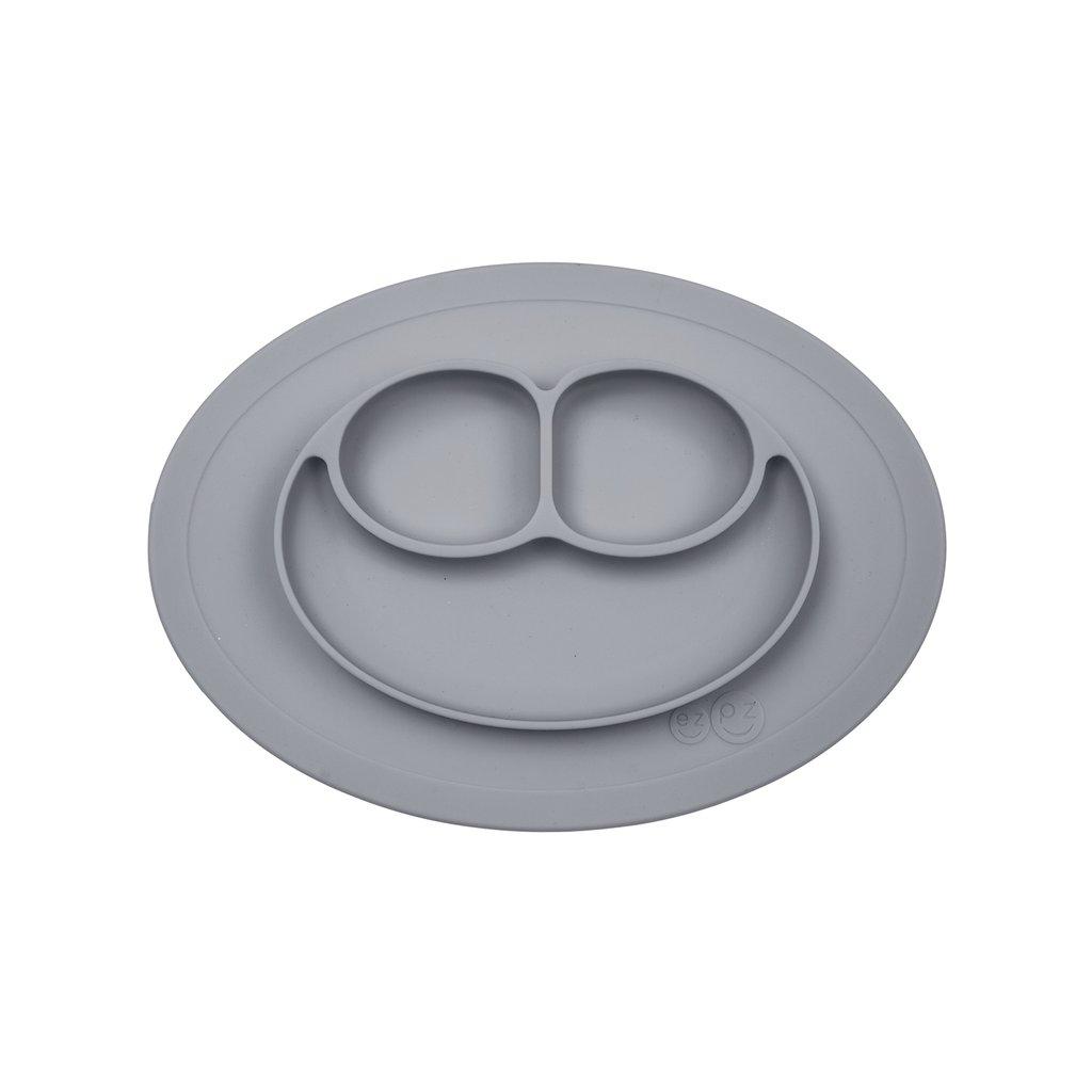 El individual + plato Mini Mat Gray