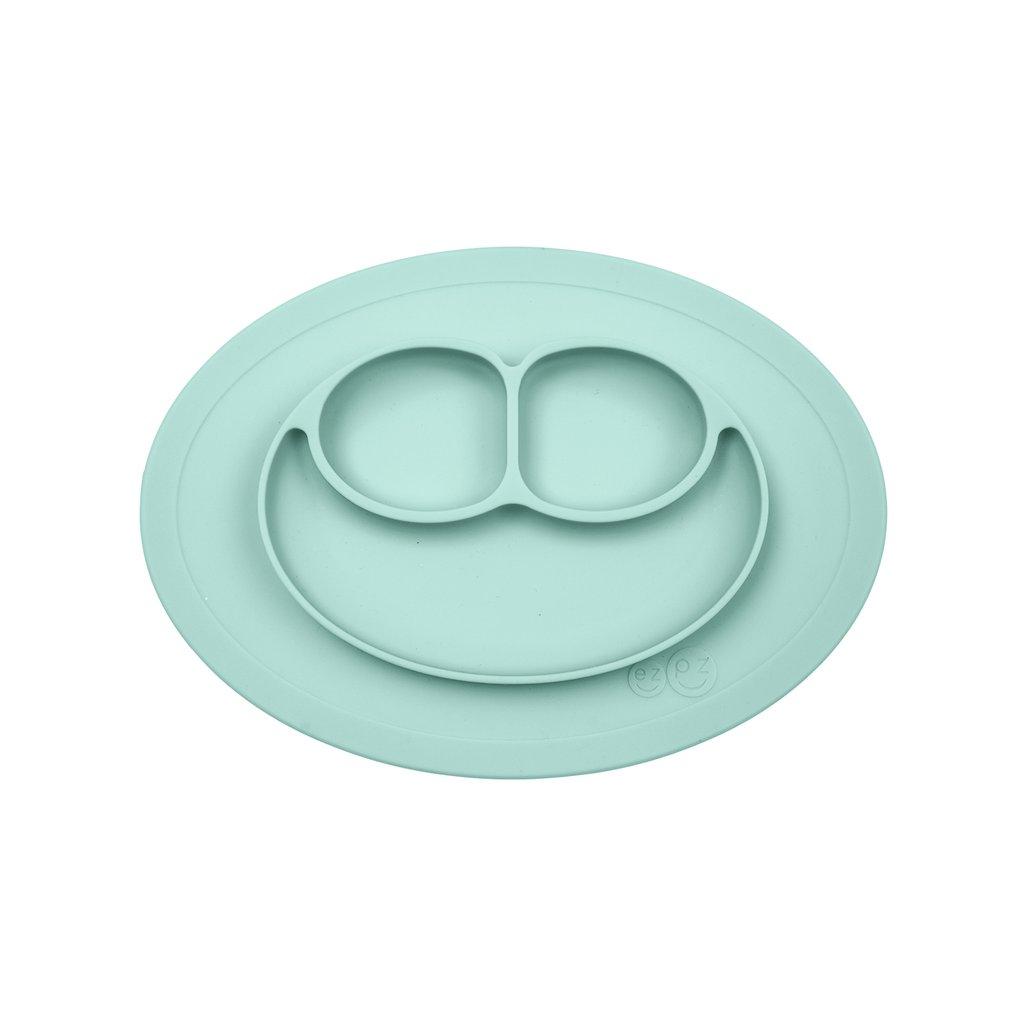 El individual + plato Mini Mat Aqua