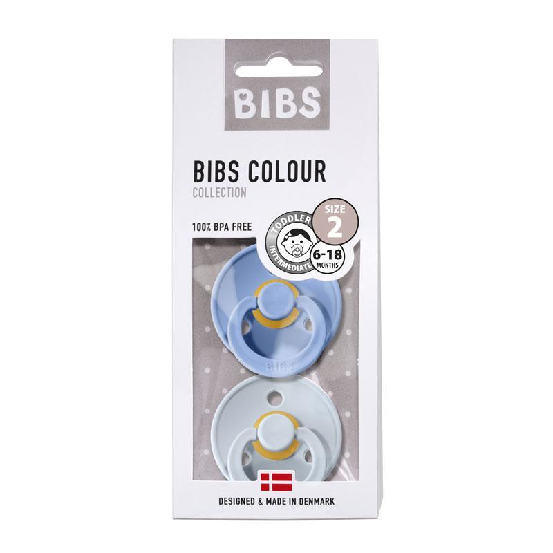Chupete Bibs Colour X2 Talla 2 Sky Blue/Baby Blue