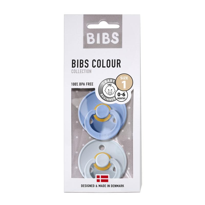 Chupete Bibs Colour X2 Talla 1 Sky Blue/Baby Blue