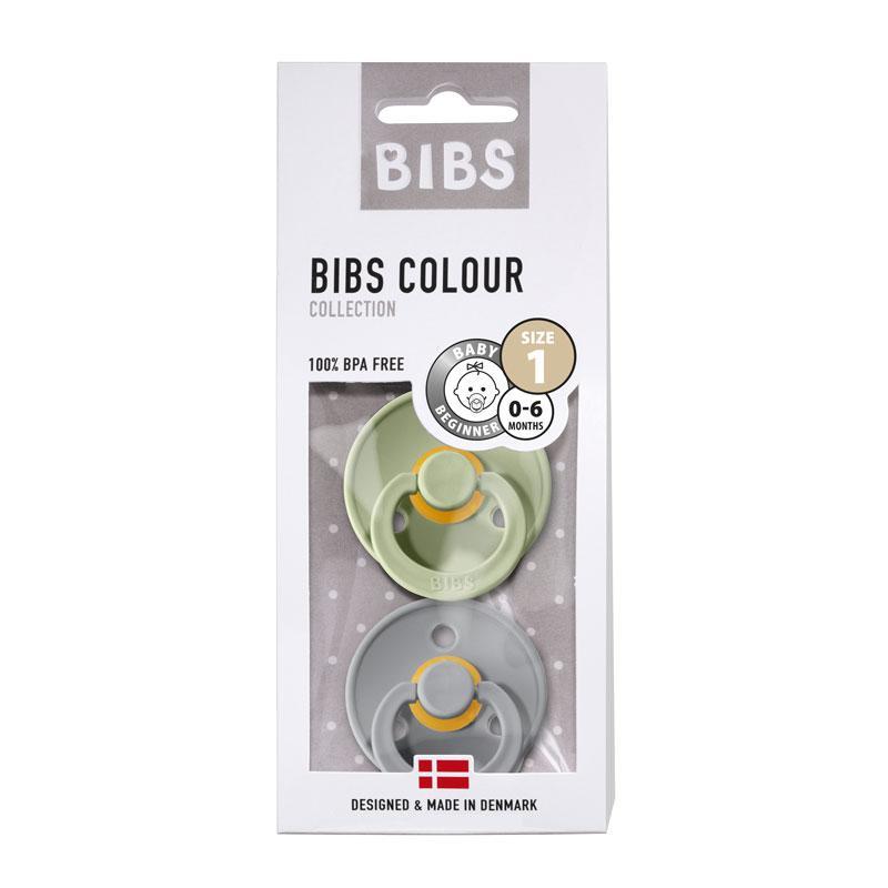Chupete Bibs Colour X2 Talla 1 Sage/Cloud