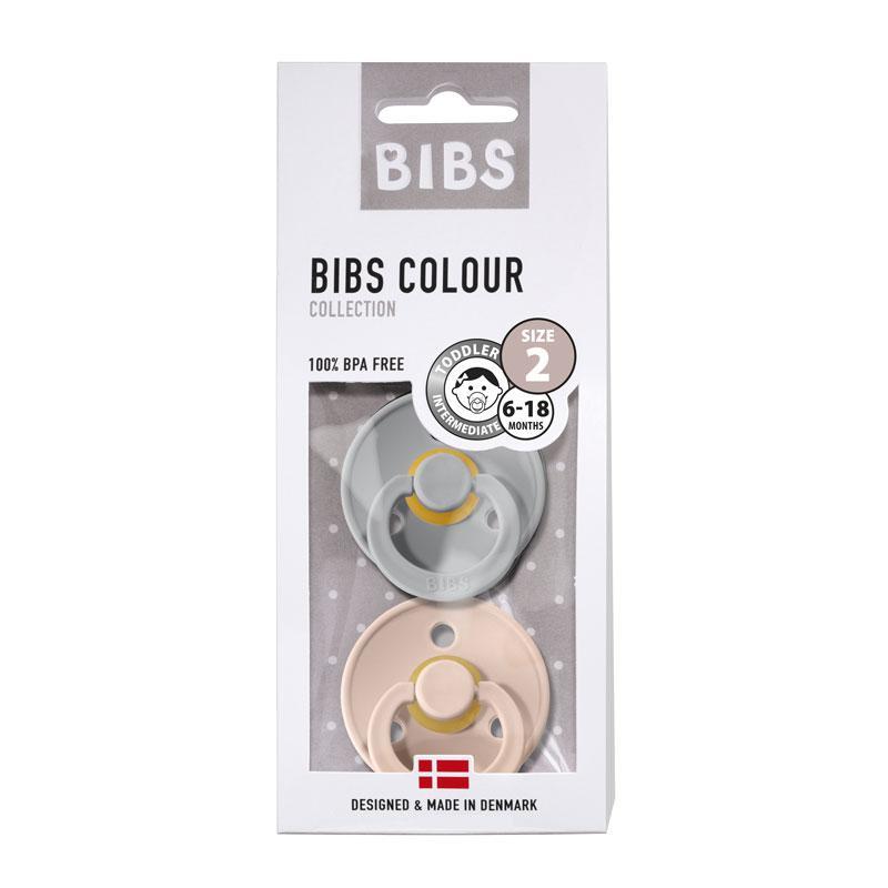 Chupete Bibs Colour X2 Talla 2 Cloud/Blush
