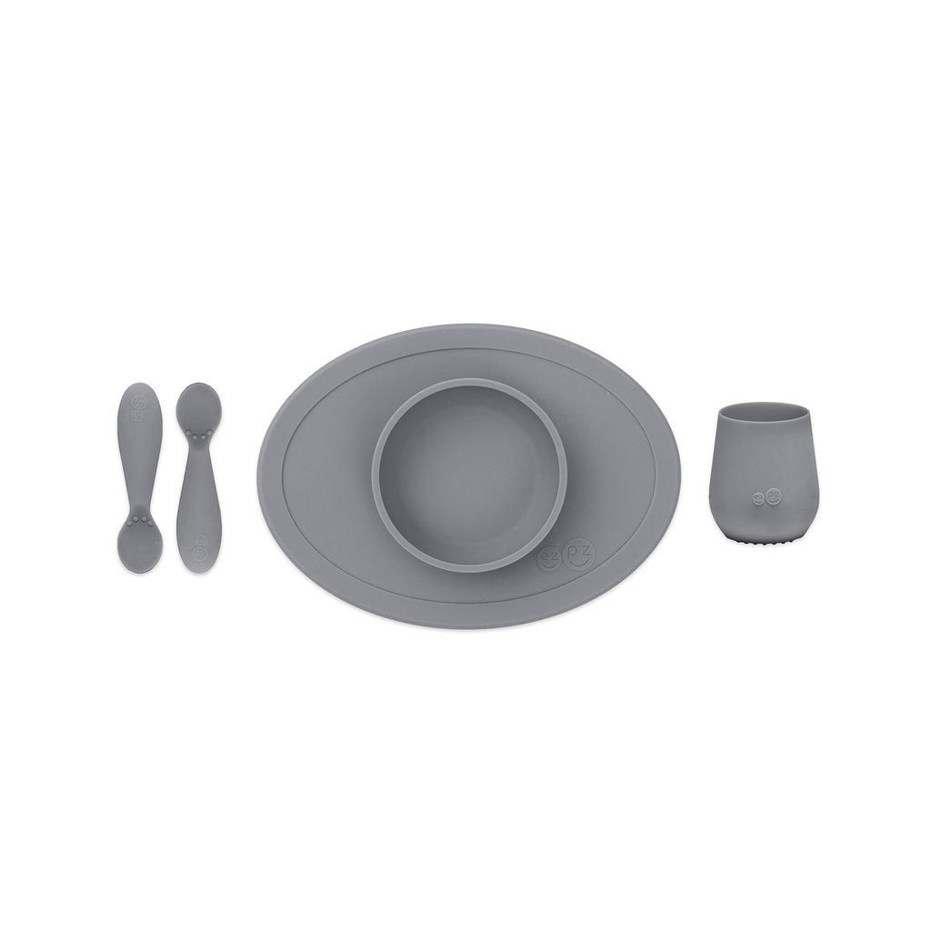 Vajilla First Foods Set Gray