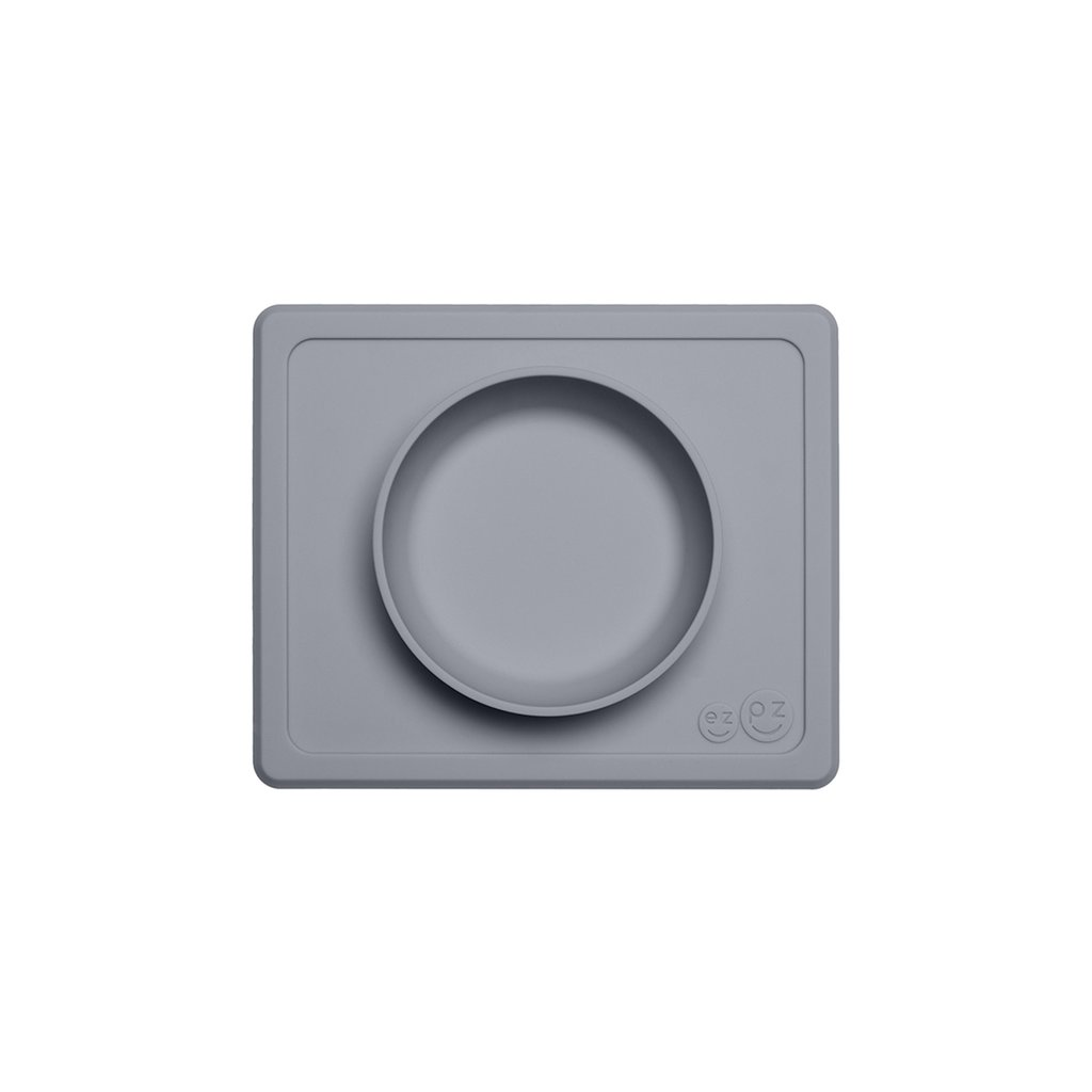 El individual + plato Mini Bowl Gray