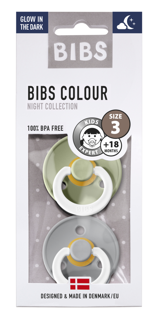 Chupete Bibs Colour X2 Talla 3 Sage/Cloud Night