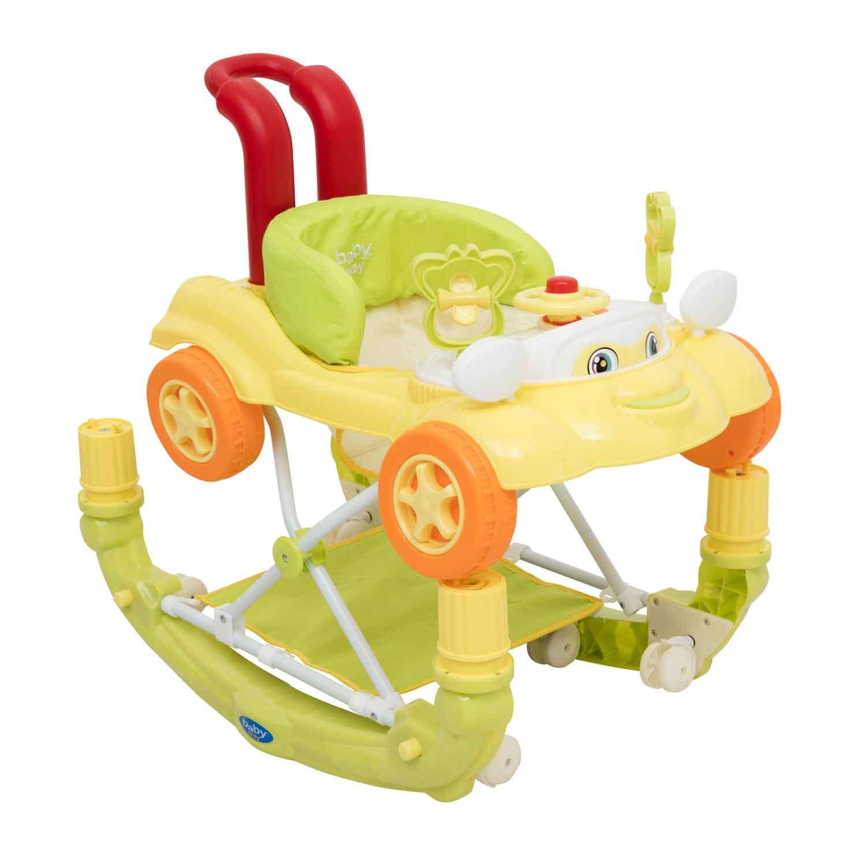 Andador Balancin 3 En 1 Baby Way Verde