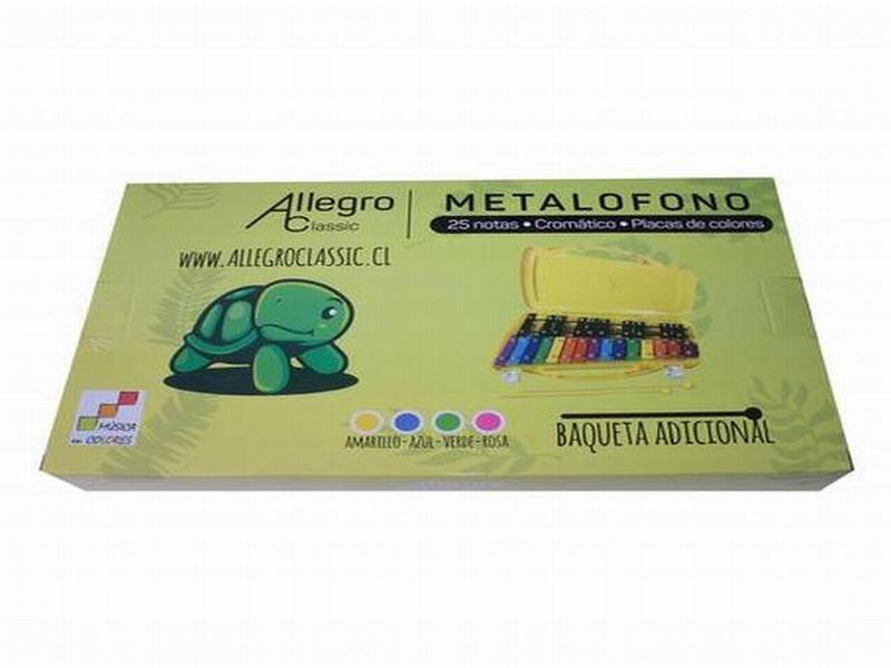 Metalófono 25 Notas Deluxe Rosado Allegro