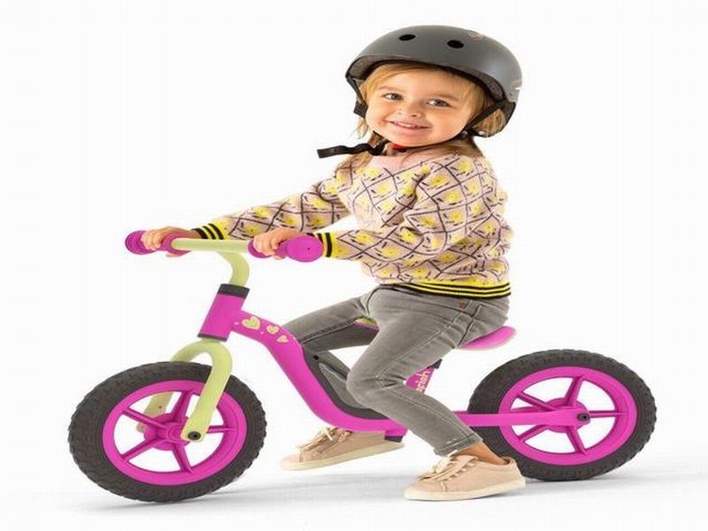Bicicleta Aprendizaje Niño Charlie Rosa Negro Chillafish