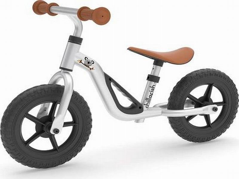 Bicicleta Aprendizaje Niño Charlie Plateado Chillafish