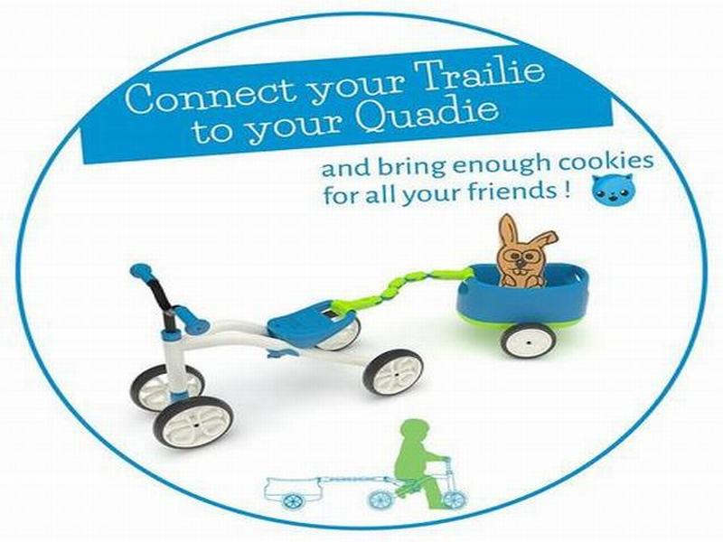 Bicicleta Aprendizaje Chillafish QUADIE + TRAILIE Azul